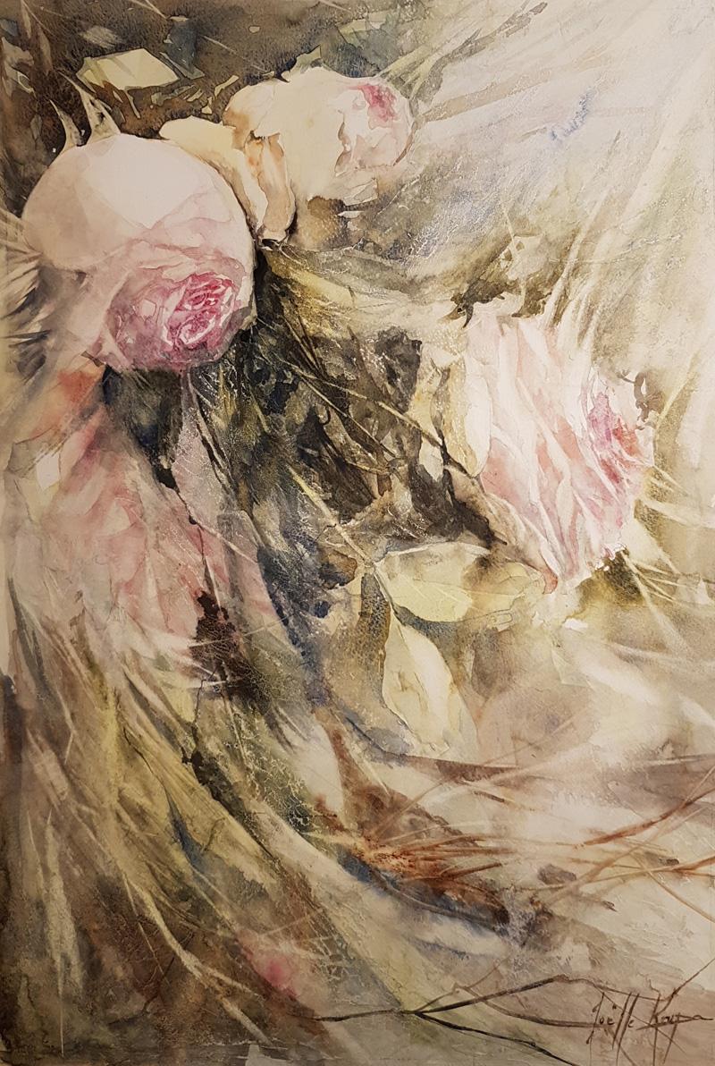 Cascade de roses Joëlle Krupa